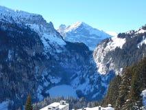 Berge in den französischen Alpen Stockfotos