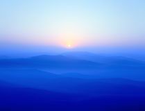 Berge der blauen Kante stockbilder