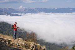 Berge, der Fotograf Stockfotografie