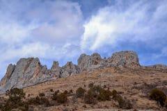 Berge in der tibetanischen Hochebene lizenzfreie stockfotografie