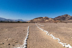 Berge in der Wüste Stockbild