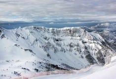 Berge in der Wintersaison, Sochi-Erholungsort Lizenzfreies Stockfoto