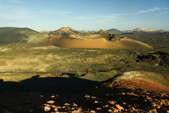 Berge des Feuers, Montanas Del Fuego, Timanfaya.i Lizenzfreies Stockbild