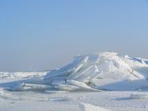Berge des unterbrochenen Eises Stockbild