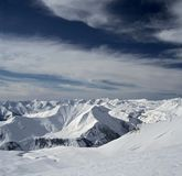 Berge in Georgia lizenzfreie stockfotos
