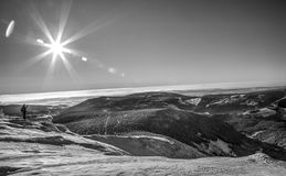 Berge HDR lizenzfreie stockfotografie