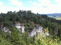 Berge im Holz Lizenzfreies Stockfoto