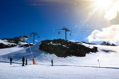 Berge im ischgl Stockfoto