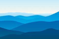 Berge im Nebel Lizenzfreie Stockfotos