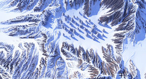 Berge im Schnee Stockbilder