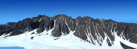 Berge im Schnee Stockbild
