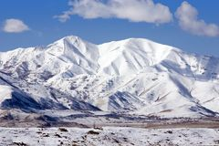 Berge im Winter Stockfotografie