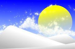 Berge im Winter beleuchtet durch Sonne Stockfoto