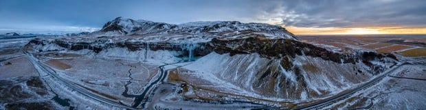 Berge in Island-Panorama Lizenzfreie Stockbilder