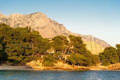 Berge in Makarska Riviera, Kroatien Lizenzfreie Stockbilder
