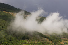 Berge mit fog-2 Stockfoto