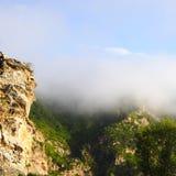 Berge mit Nebel Lizenzfreies Stockfoto