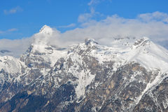 Berge mit Schnee Stockbild