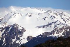 Berge mit Schnee am Nationalpark Torres Del Paine, Magallanes-Region, Süd-Chile Lizenzfreie Stockfotos