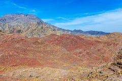 Berge nahe Abyaneh Stockfotografie