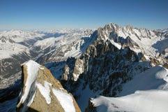 Berge nahe Mont Blanc Stockfotos