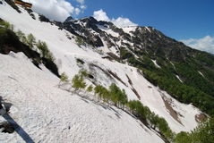 Berge nahe Sochi Stockfoto