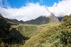 Berge in Nationalpark Reunion Island Lizenzfreie Stockfotos