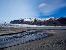 Berge in Nationalpark Skaftafell lizenzfreie stockfotos