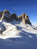 Berge Sassolungo in Dolomiti, Italien Lizenzfreie Stockfotos