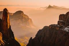 Berge Sella Ronda Dolomites Italy lizenzfreie stockfotos