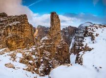 Berge Sella Ronda Dolomites Italy stockfotos