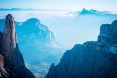 Berge Sella Ronda Dolomites Italy lizenzfreies stockbild