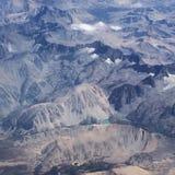 Berge - Sierra Nevada Aerial View Lizenzfreies Stockbild
