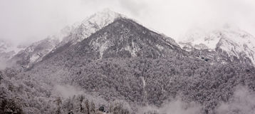 Berge in Sochi-Erholungsort Lizenzfreie Stockfotografie