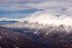 Berge in Sochi-Erholungsort Lizenzfreies Stockfoto