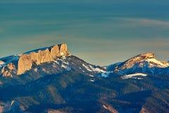 Berge am Sonnenuntergang Großer Nationalpark Thach Stockfotos