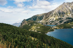 Berge, Tal von fünf Seen, Polen, Zakopane Stockbild