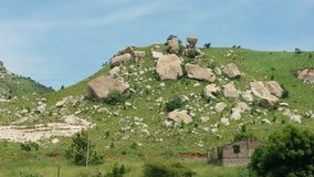 Berge in Tirupati Stockbild
