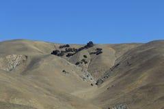 Berge trocknen und unfruchtbar stockfotos