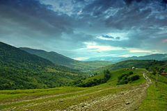 Berge. Ukraine. Stockfotos