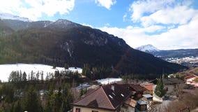 Berge um bergun, switserland genommen vom Rhatische Bahn Lizenzfreie Stockbilder