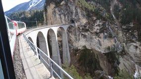 Berge um bergun, switserland genommen vom Rhatische Bahn Stockfoto