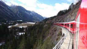 Berge um bergun, switserland genommen vom Rhatische Bahn Stockfotos