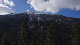 Berge um bergun, switserland genommen vom Rhatische Bahn Lizenzfreies Stockbild