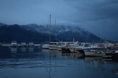 Berge um das adriatische Meer! lizenzfreies stockfoto