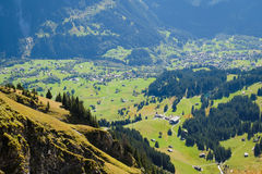 Berge um Grindelwald Lizenzfreies Stockbild