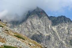 Berge und Aufzug. Stockbild