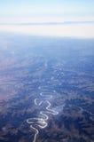 Berge und Flüsse lizenzfreies stockbild