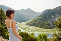 Berge und Fluss Krasnodar Gegend, Katya Lizenzfreies Stockbild