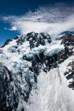 Berge und Gletscher Neuseeland lizenzfreie stockfotos